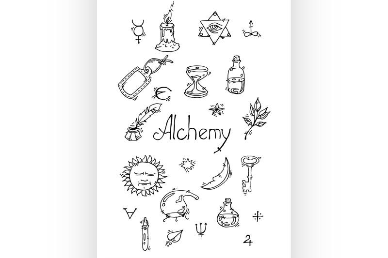 alchemy-symbols-bw