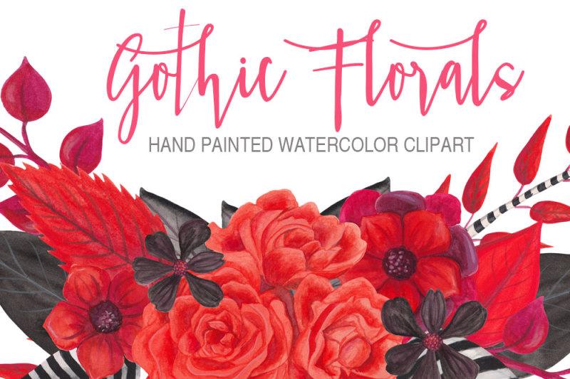 gothic-florals-watercolor-graphics