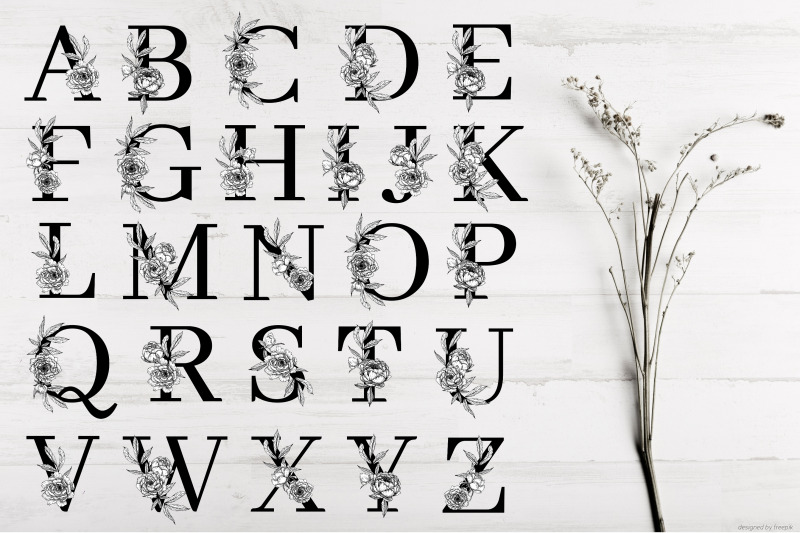 alphabet-with-flowers-and-leaves-svg-png-floral-font