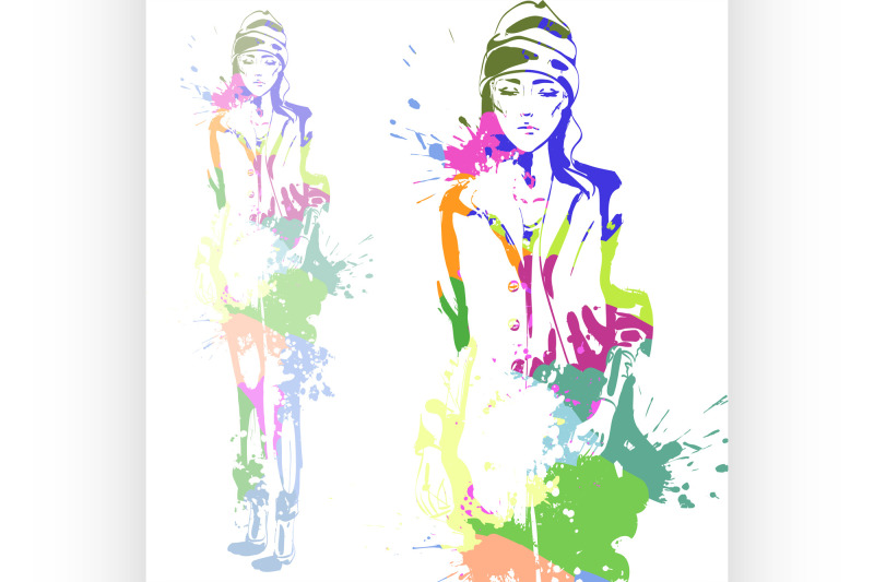 fashion-look-girl-with-color-splashes