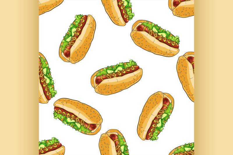 seamless-pattern-color-hot-dog