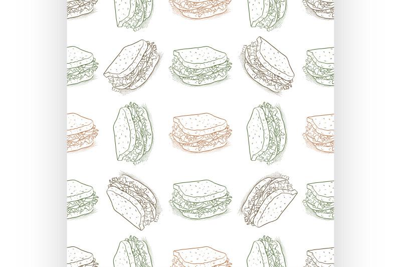 seamless-pattern-sandwich-scetch