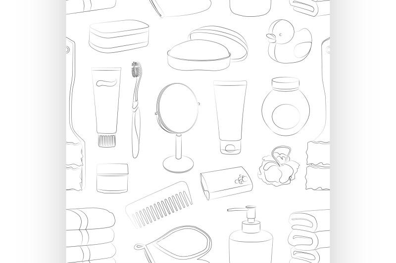 bath-accessories-pattern