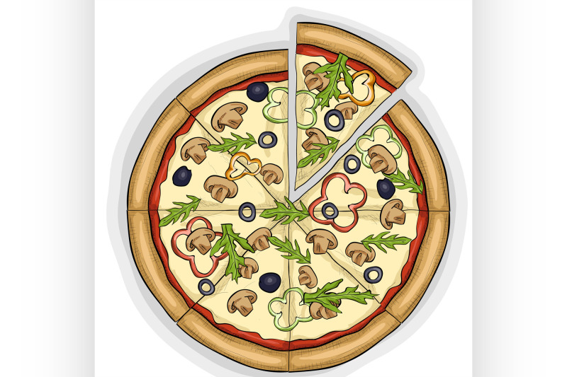 pizza-with-mushrooms-color-picture