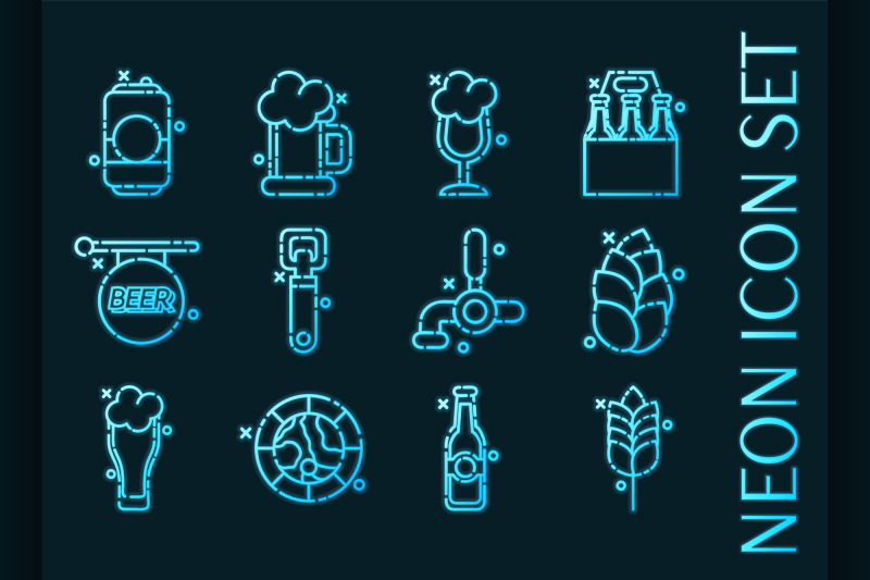 set-of-brewing-blue-glowing-neon-icons