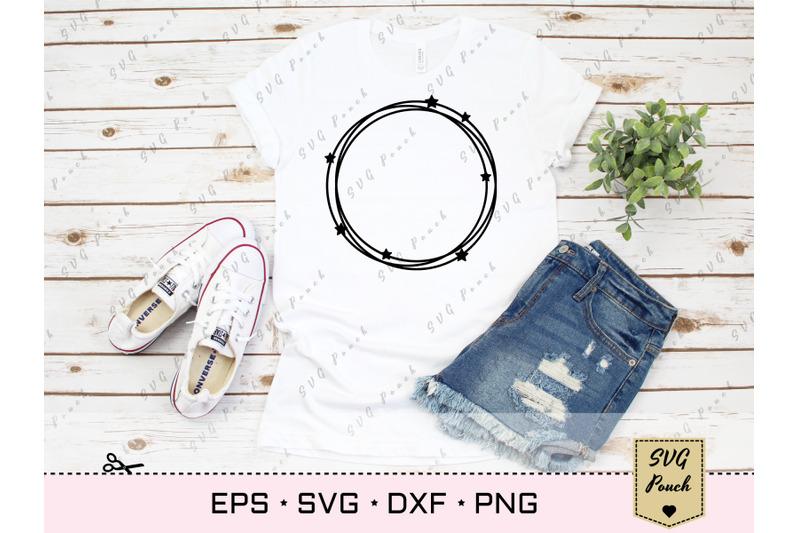 circle-monogram-frame-svg-with-stars