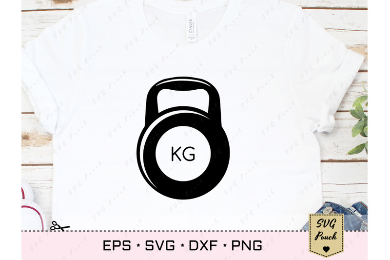 dumbbell-and-barbell-svg-set