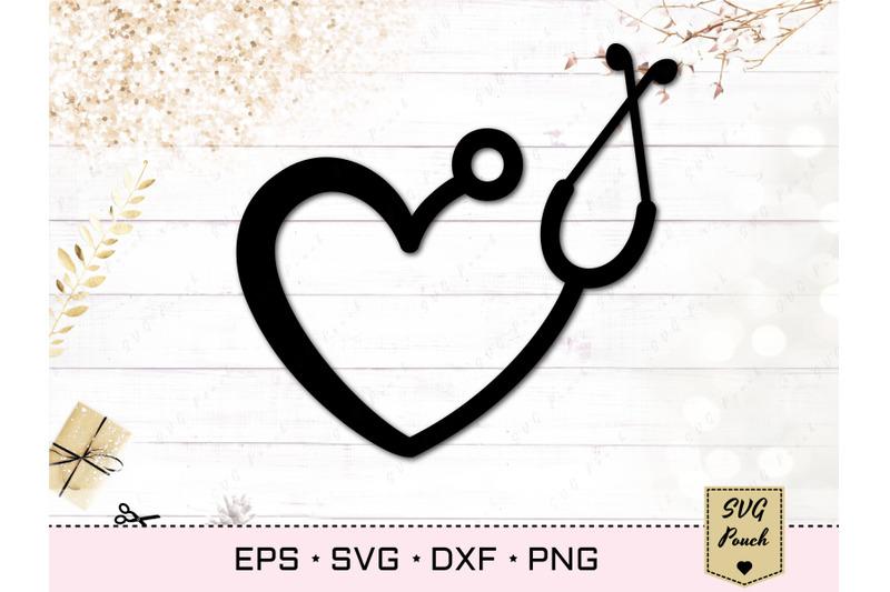 stethoscope-nurse-heart-svg