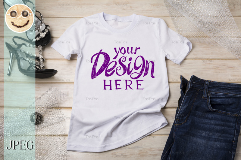 white-womens-cotton-t-shirt-mockup-with-black-sandals