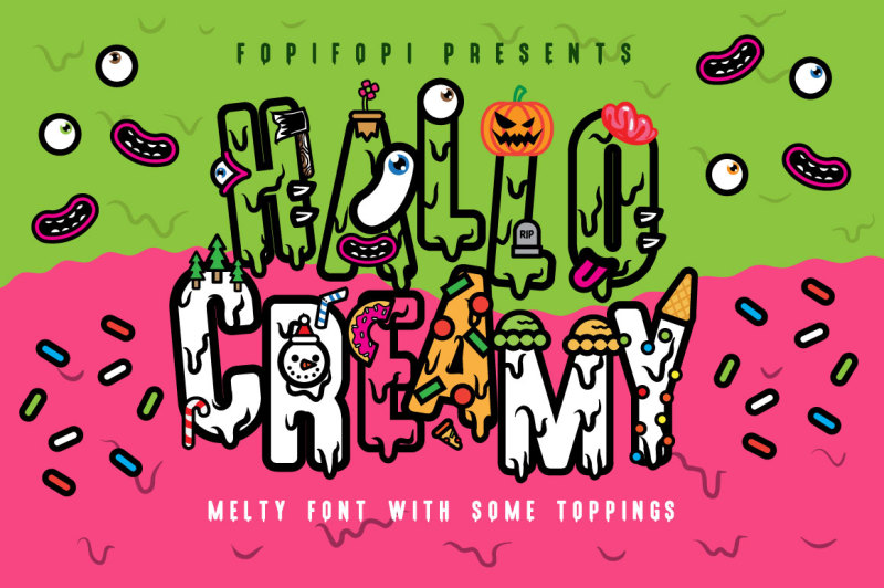 hello-creamy-font-toppings