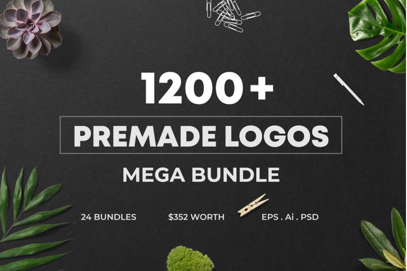 1200-premade-logos-mega-bundle