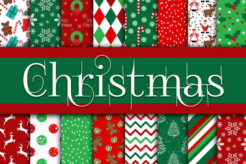 christmas-digital-papers