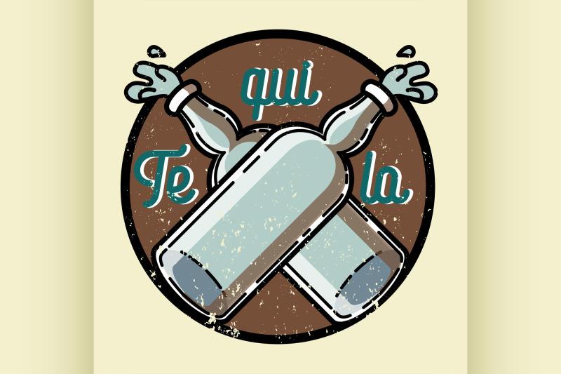 color-vintage-tequila-emblem
