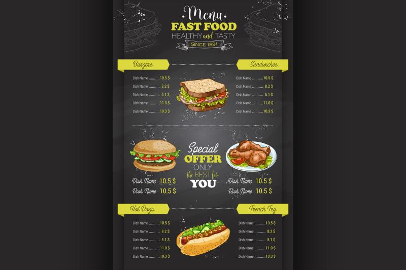 drawing-vertical-color-fast-food-menu-design