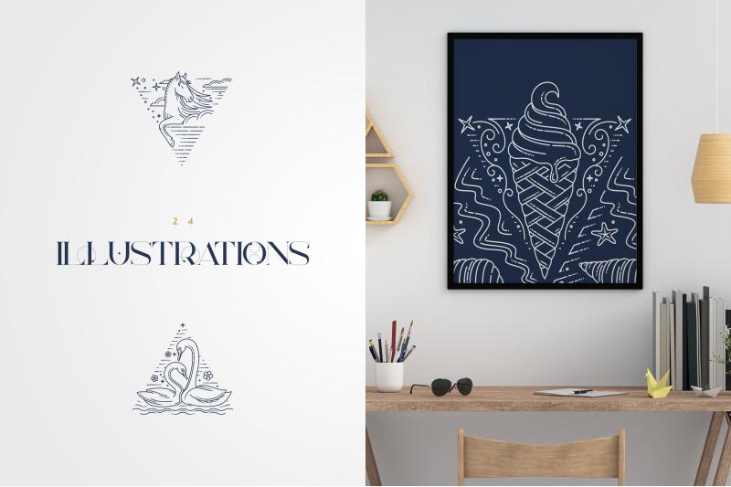 dreamland-line-art-illustrations
