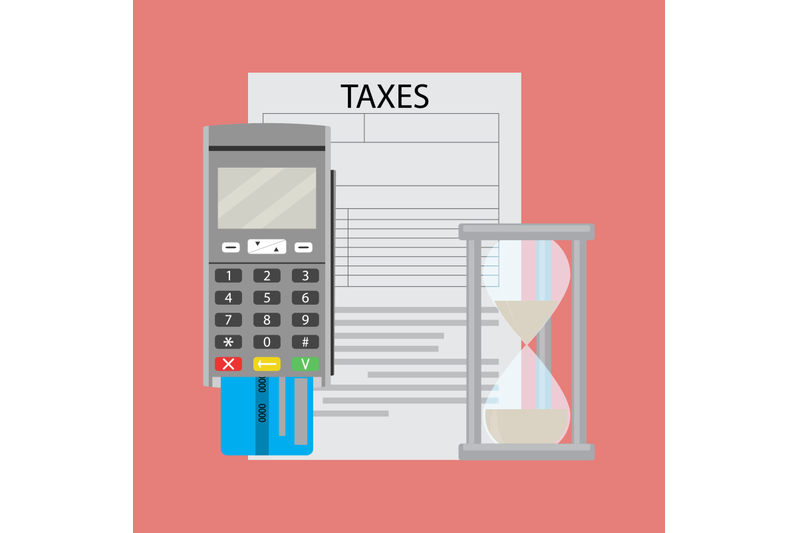 tax-document-and-transfer-paying-money