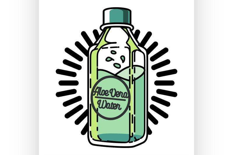 color-vintage-aloe-vera-emblem