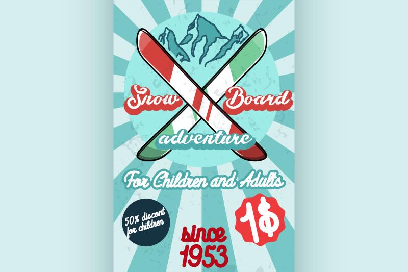 color-vintage-ski-sport-poster