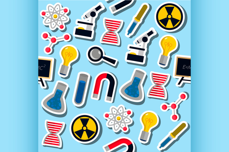 set-of-science-colorful-pattern-icons