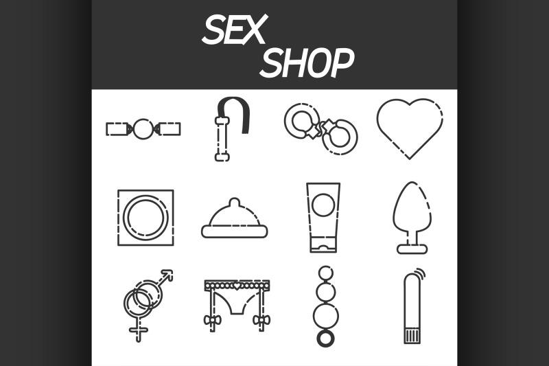 sex-shop-icons-set