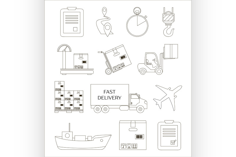 shipping-and-delivery-icons-set