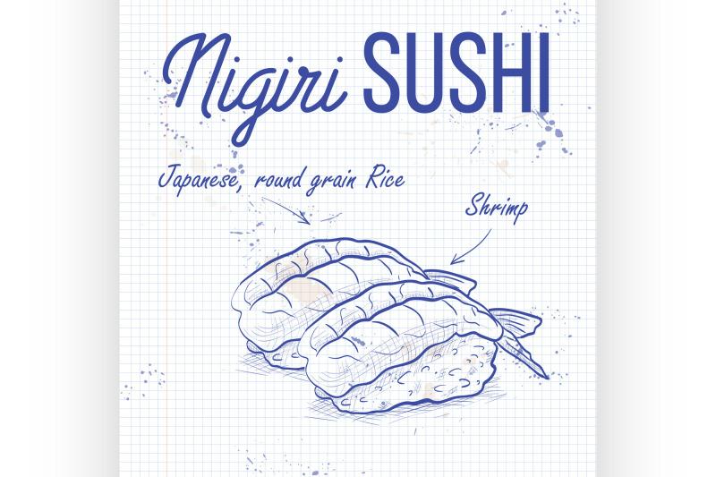 vector-color-sticker-ebi-nigiri-sushi