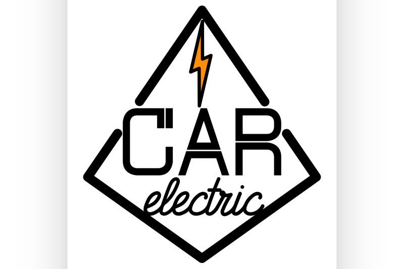 color-vintage-electric-car-emblem