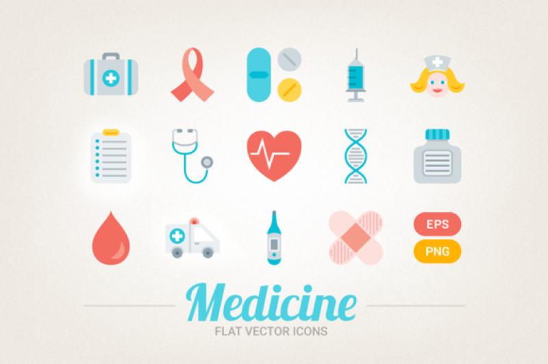 flat-medical-icons