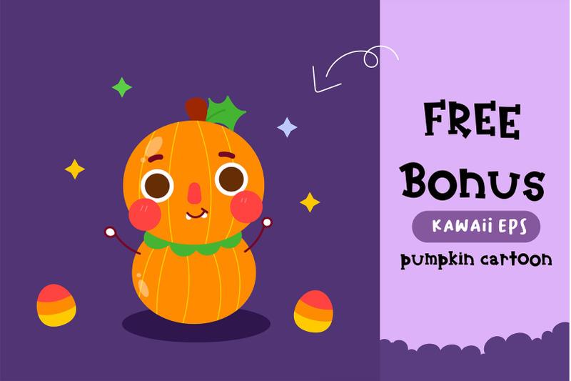 halloween-pumpkin-handwritten-cute-kid-font-kawaii-style