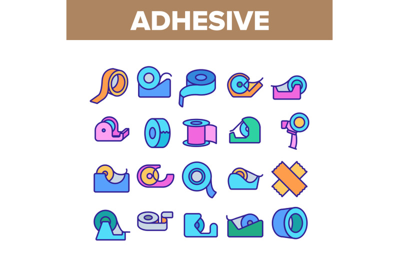 adhesive-tape-scotch-collection-icons-set-vector