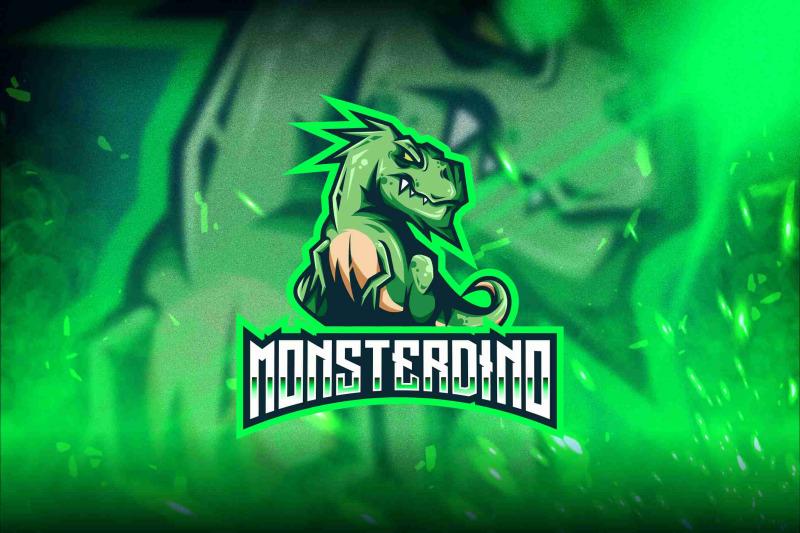 monster-dino-esport-logo-template