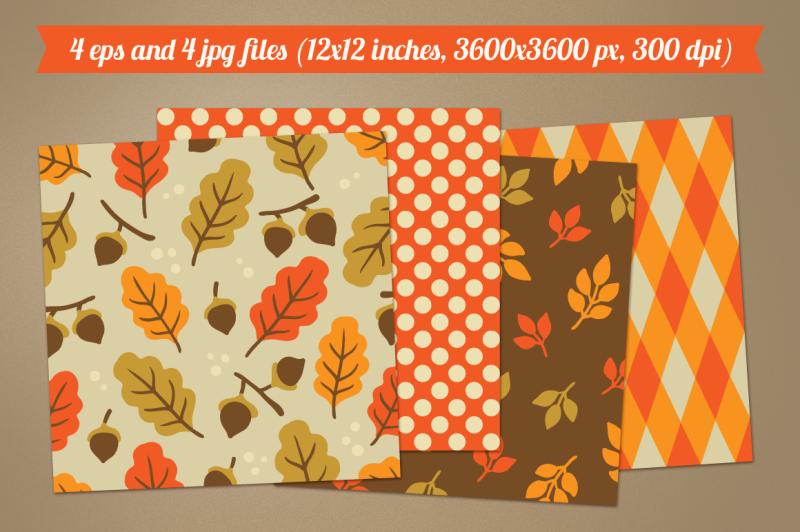 autumn-seamless-patterns