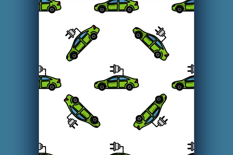 electric-car-flat-pattern