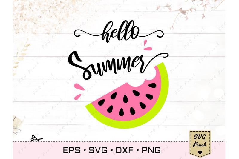 hello-summer-watermelon-svg