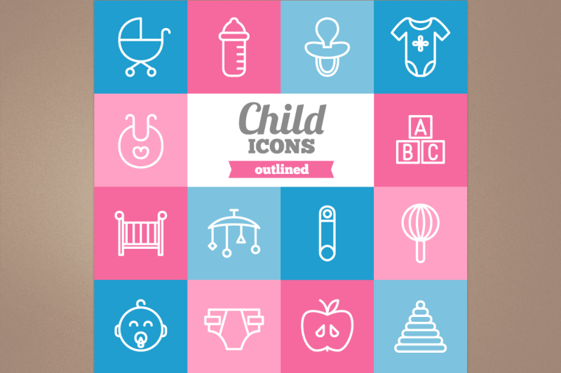 outlined-child-icons
