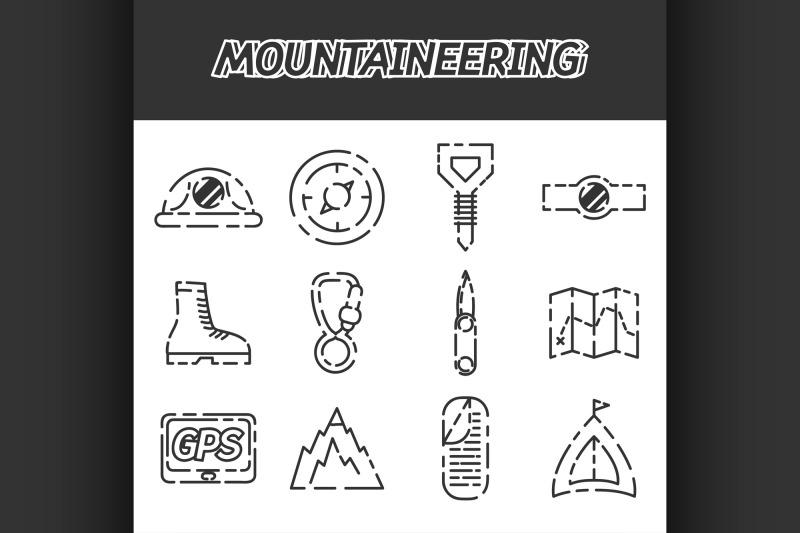 mountaineering-icon-set