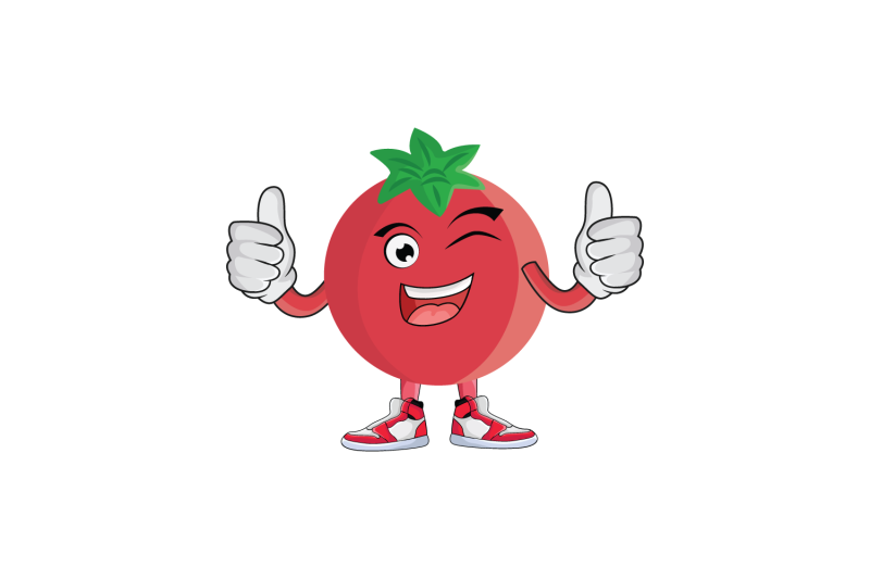 pomegranate-wink-double-thumbs-up-fruit-cartoon-character-design
