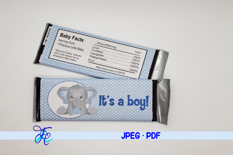 it-039-s-a-boy-elephant-candy-bar-wrapper