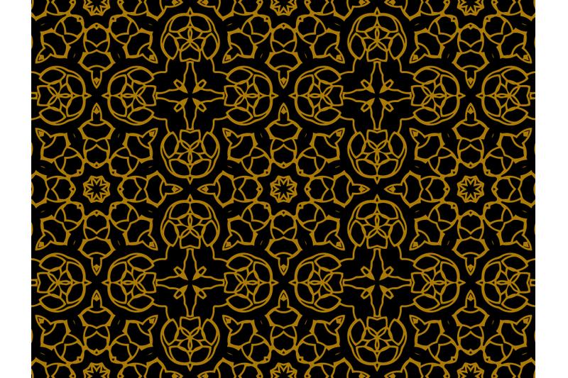 pattern-gold-motive-shuriken