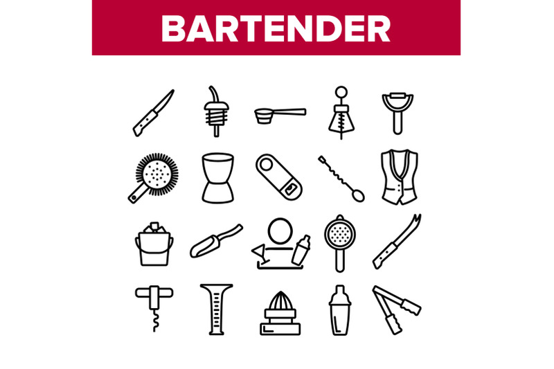bartender-equipment-collection-icons-set-vector
