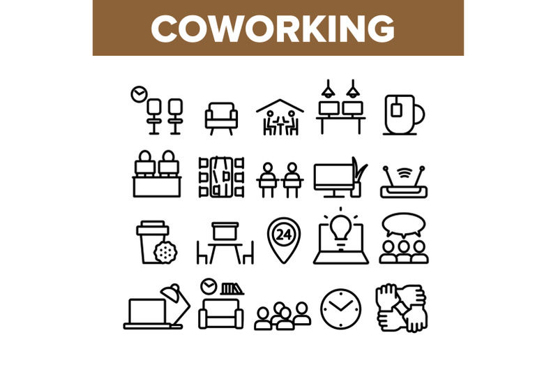 coworking-collection-elements-icons-set-vector
