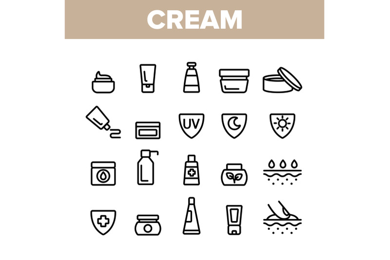 collection-healthy-cream-elements-vector-icons-set