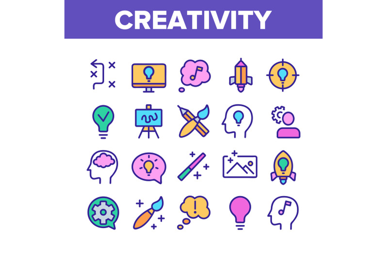 creativity-collection-elements-icons-set-vector