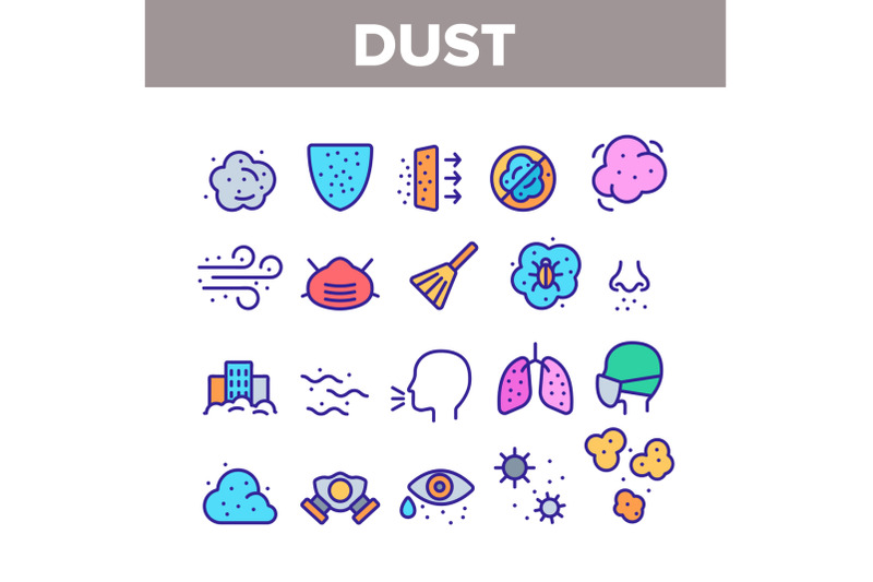 dust-and-polluted-air-color-icons-set-vector