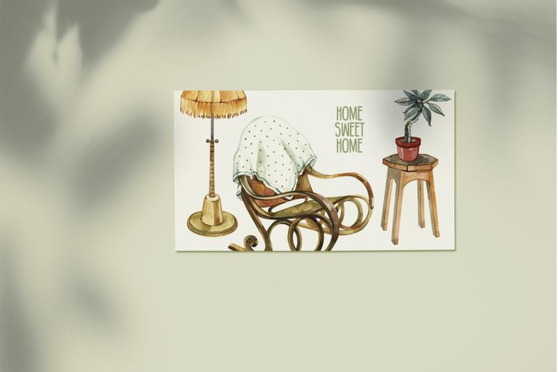 watercolor-cozy-home-clipart