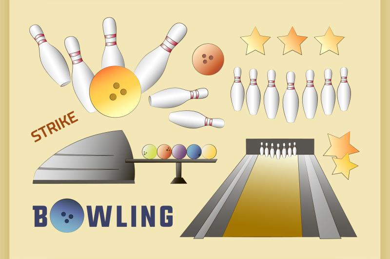 bowling-icons-set