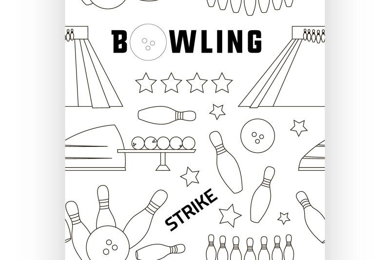 bowling-icons-set-pattern