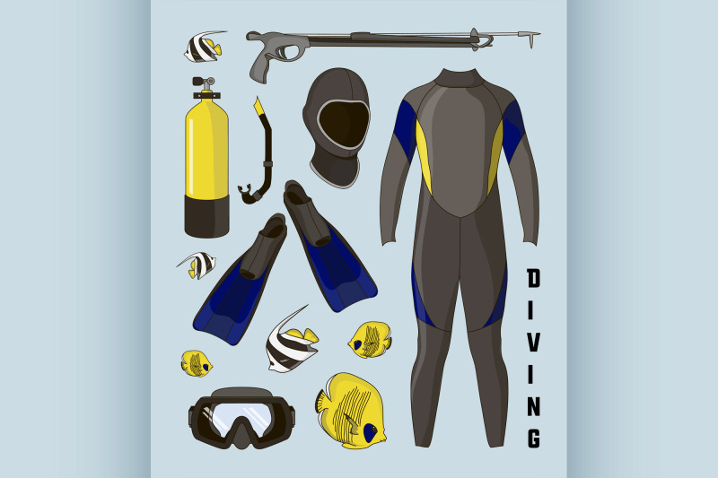 vector-icons-set-of-diving-equipment