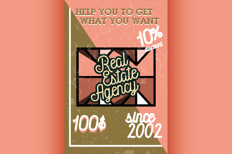 color-vintage-real-estate-agency-banner