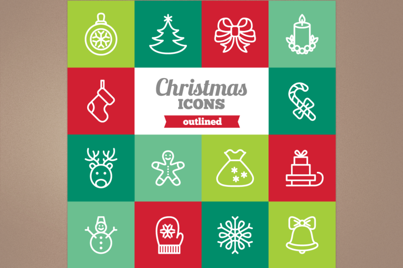outlined-christmas-icons